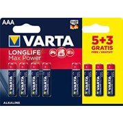 Varta Longlife Max Power AAA; LR03; blister 5+3ks