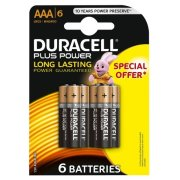 DURACELL PLUS Power AAA; LR03; blister 6ks