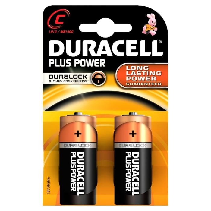 DURACELL PLUS Power C;  LR14; blister 2ks