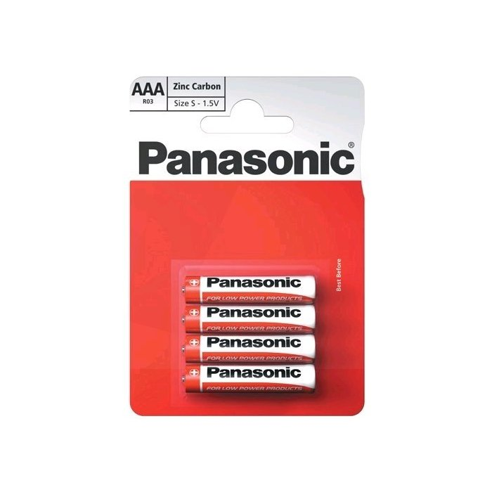 Panasonic Red AAA Special; R03; blister 4ks