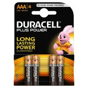 DURACELL PLUS Power AAA; LR03; blister 4ks