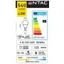 Entac LED žiarovka Mini Globe 6,5W E14 WW
