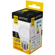 Entac LED žiarovka Mini Globe 6,5W E27 WW