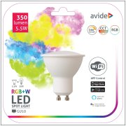 Avide LED žiarovka 5,5W GU10 RGB+W SMART s WiFi